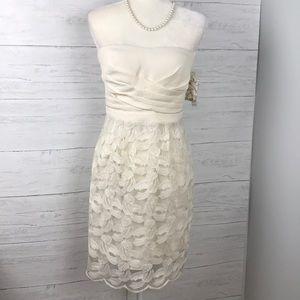 NWT GIANNI BINI STRAPLESS DRESS